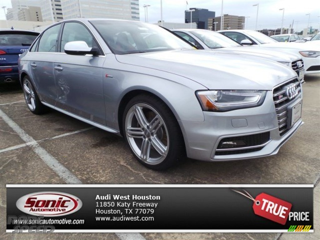 2015 S4 Premium Plus 3.0 TFSI quattro - Florett Silver Metallic / Black/Magma Red photo #1