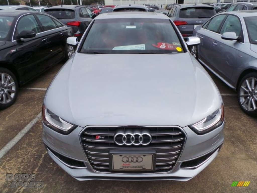 2015 S4 Premium Plus 3.0 TFSI quattro - Florett Silver Metallic / Black/Magma Red photo #2