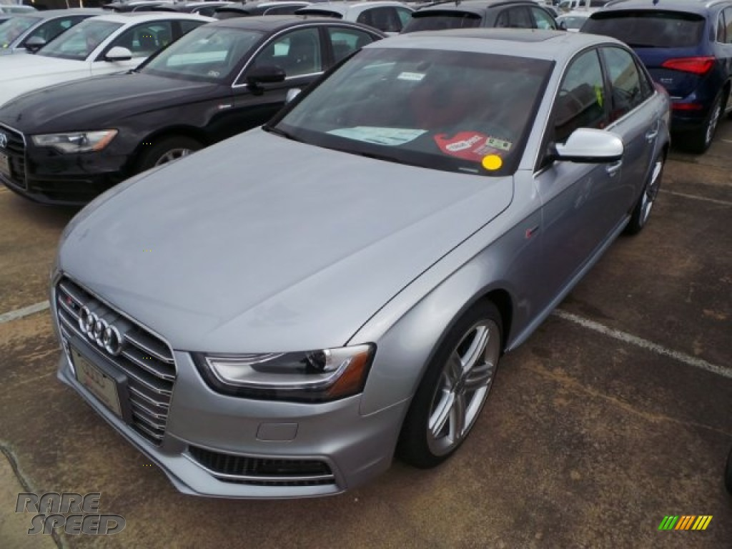 2015 S4 Premium Plus 3.0 TFSI quattro - Florett Silver Metallic / Black/Magma Red photo #3