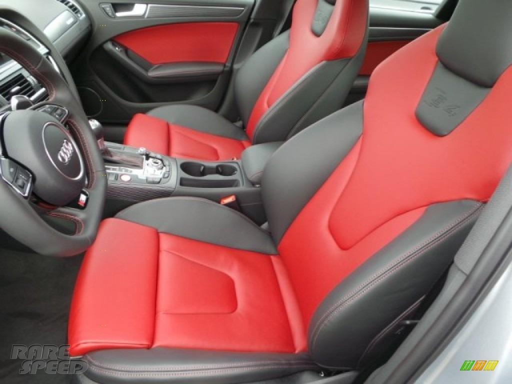 2015 S4 Premium Plus 3.0 TFSI quattro - Florett Silver Metallic / Black/Magma Red photo #10