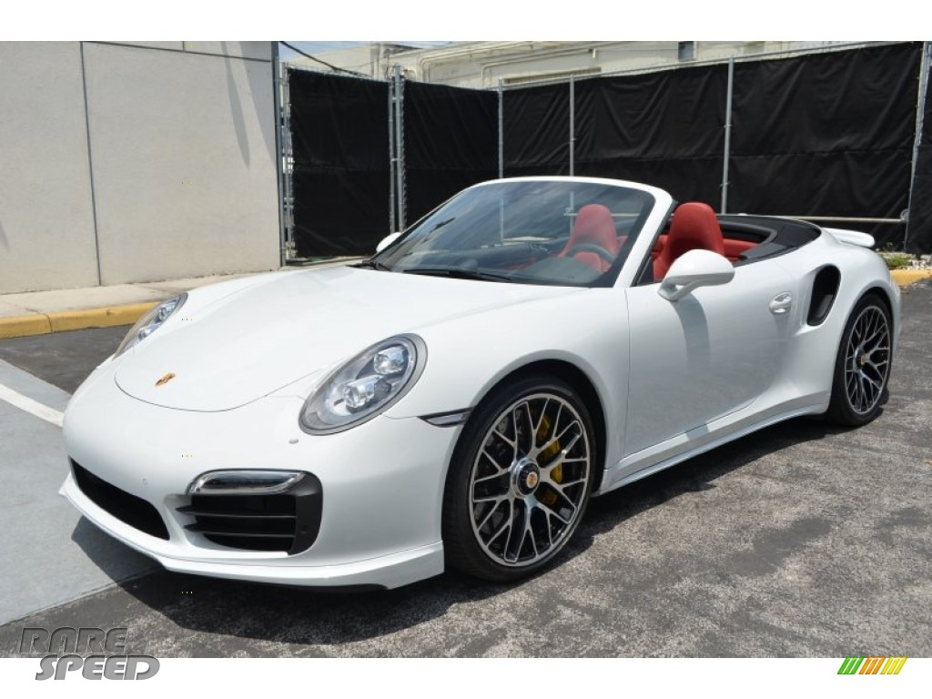 2015 Porsche 911 Turbo S Cabriolet In Carrara White