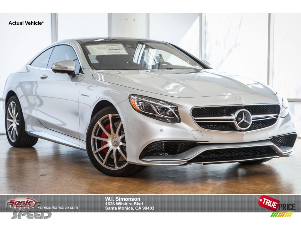 2015 Mercedes Benz S 63 Amg 4matic Coupe In Iridium Silver