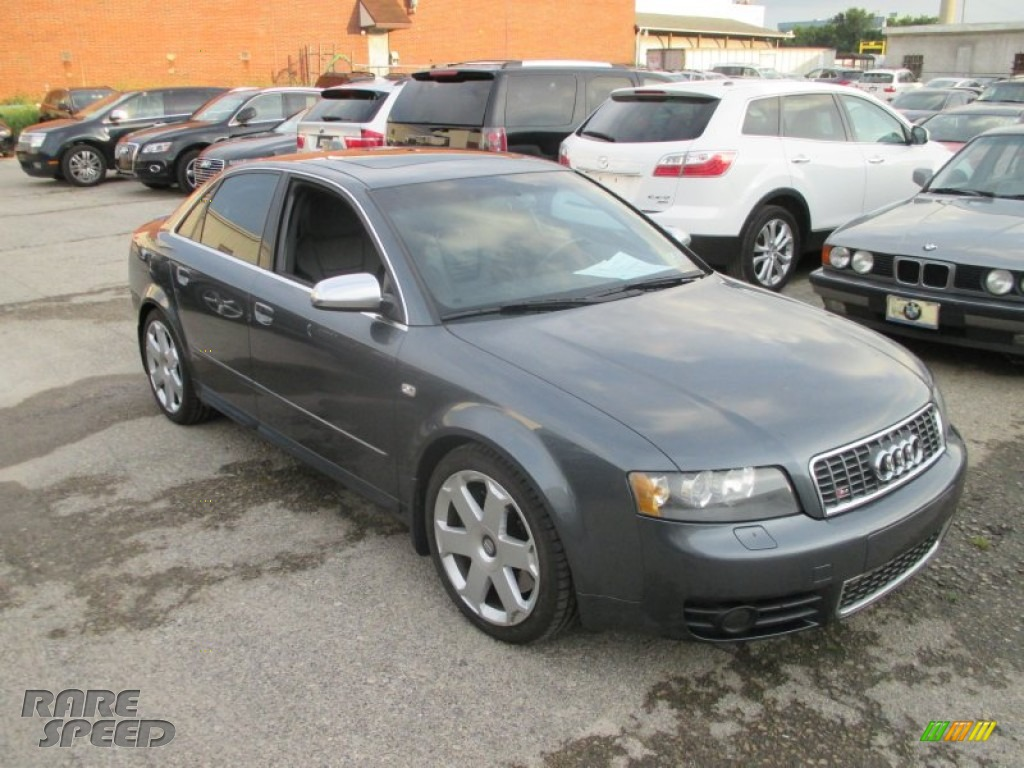 2004 S4 4.2 quattro Sedan - Dolphin Grey Metallic / Black photo #1