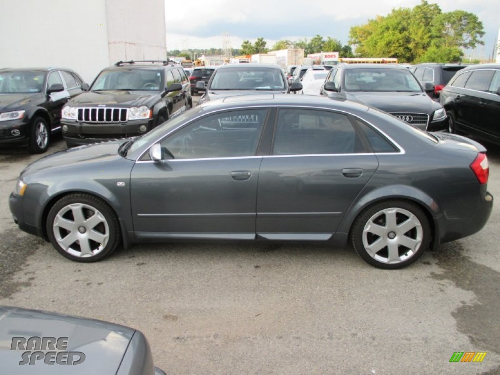 2004 S4 4.2 quattro Sedan - Dolphin Grey Metallic / Black photo #7