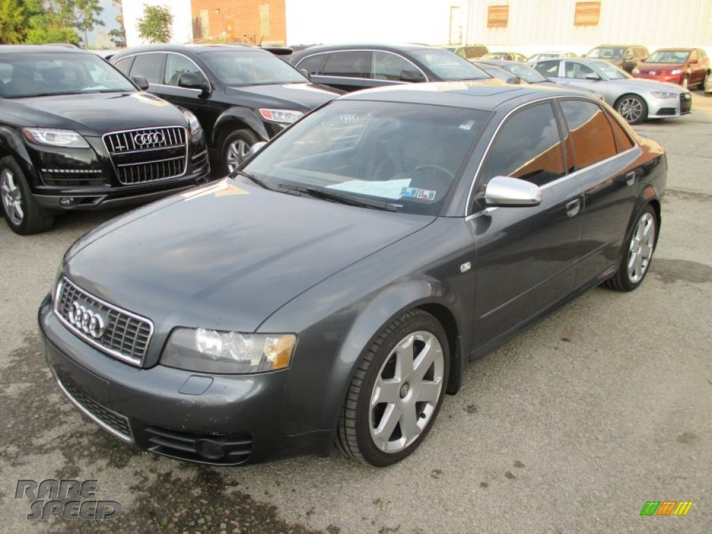 2004 S4 4.2 quattro Sedan - Dolphin Grey Metallic / Black photo #8