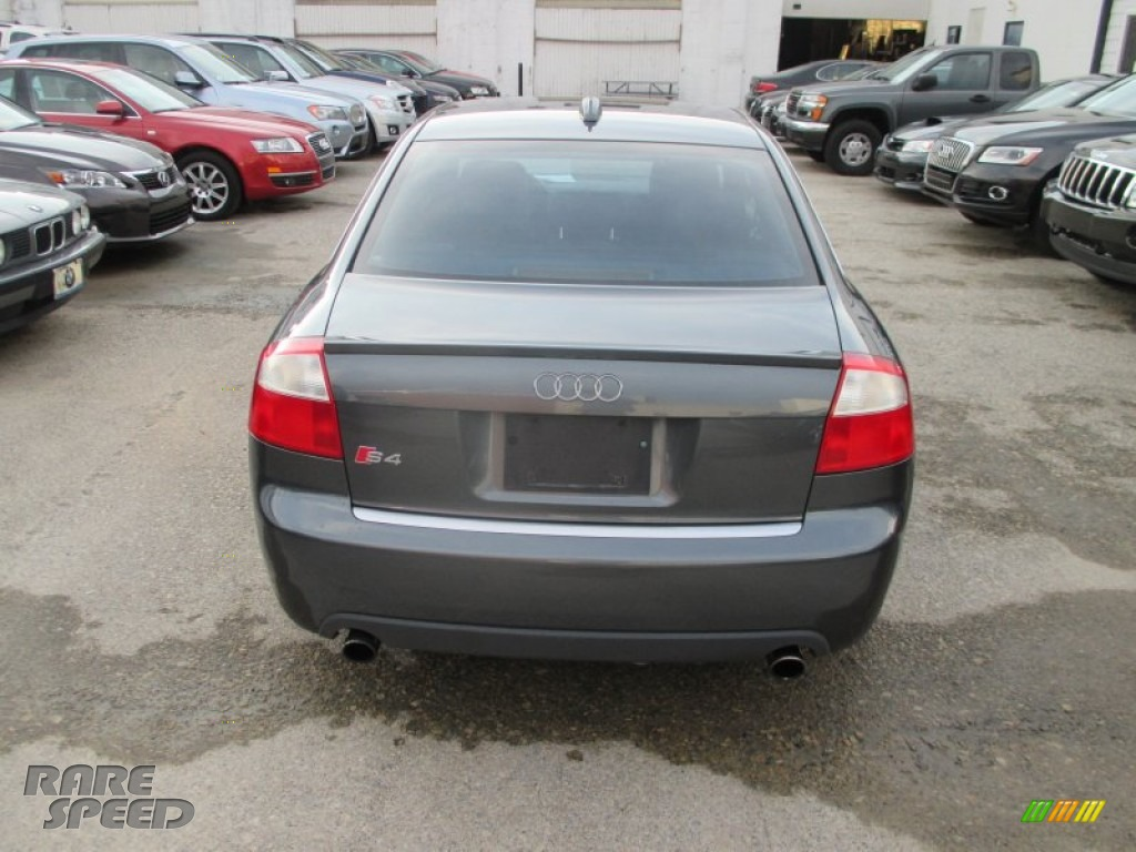 2004 S4 4.2 quattro Sedan - Dolphin Grey Metallic / Black photo #10