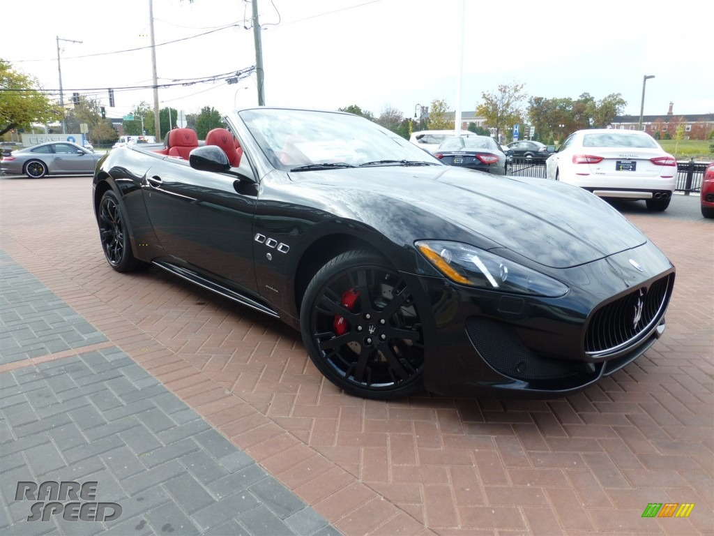 2016 GranTurismo Convertible GT Sport - Nero (Black) / Rosso Corallo photo #1