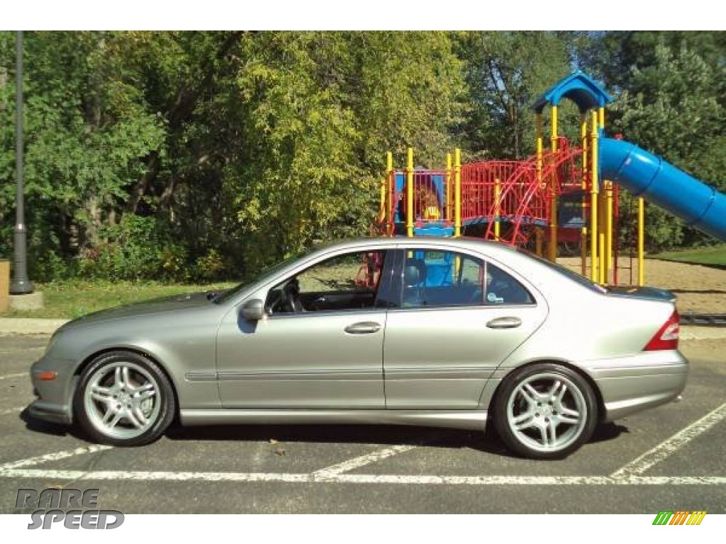 Desert Silver Metallic / Black Mercedes-Benz C 55 AMG Sedan