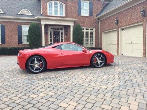 2012 Ferrari 458 Italia In Rosso Rubino Dark Red Metallic