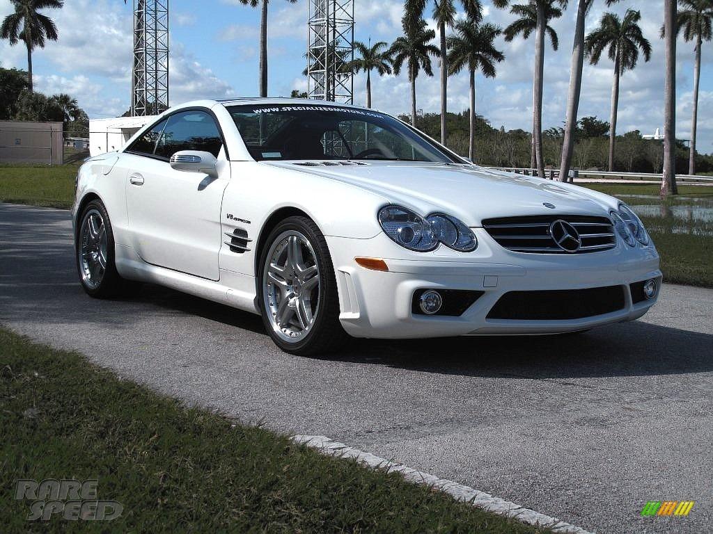 2007 SL 55 AMG Roadster - Alabaster White / Black photo #1