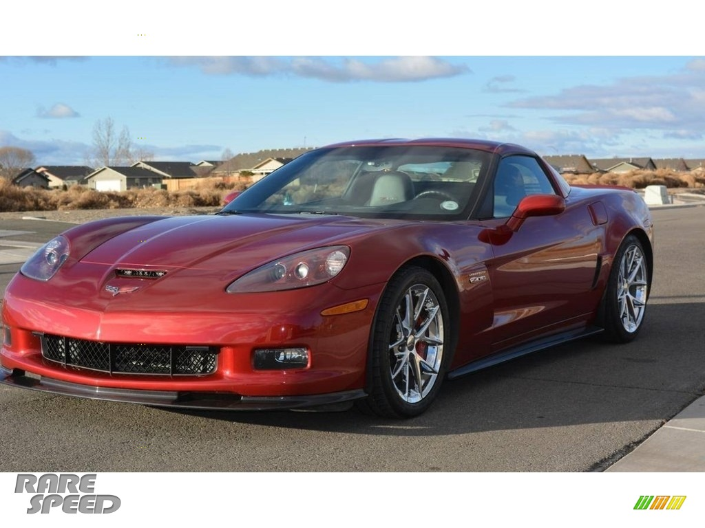 Crystal Red Metallic / Red Chevrolet Corvette Z06