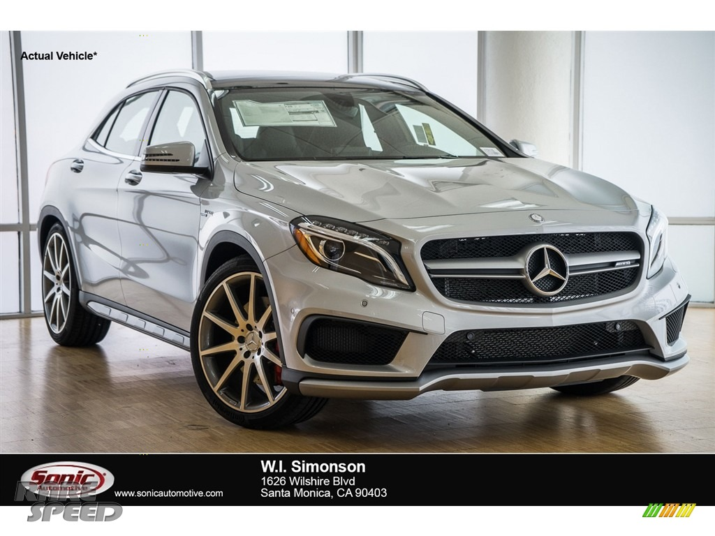 2016 mercedes benz gla 45 amg in polar silver metallic for Simonson mercedes benz