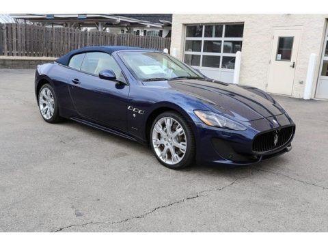 Blu Nettuno (Blue Metallic) 2016 Maserati GranTurismo Convertible GT Sport