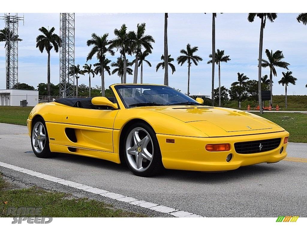1995 F355 Spider - Giallo Modena (Yellow) / Black photo #1