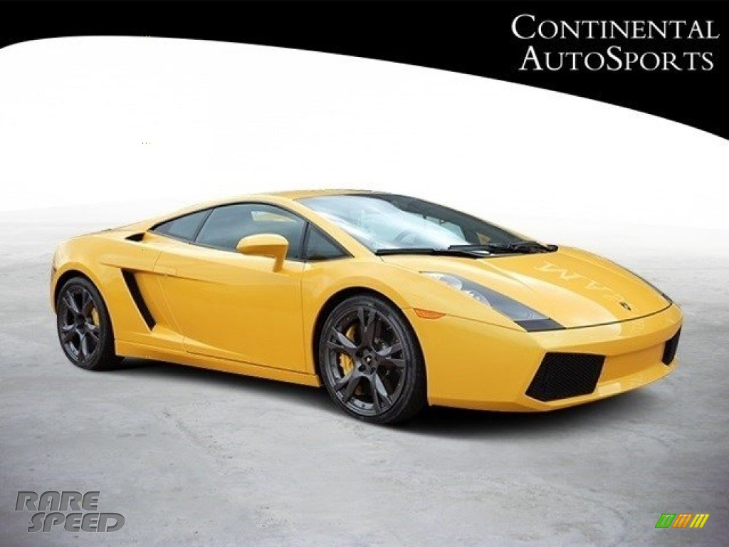 Giallo Halys (Yellow) / Black/Yellow Lamborghini Gallardo Coupe
