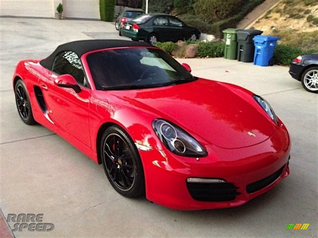Guards Red / Black Porsche Boxster S