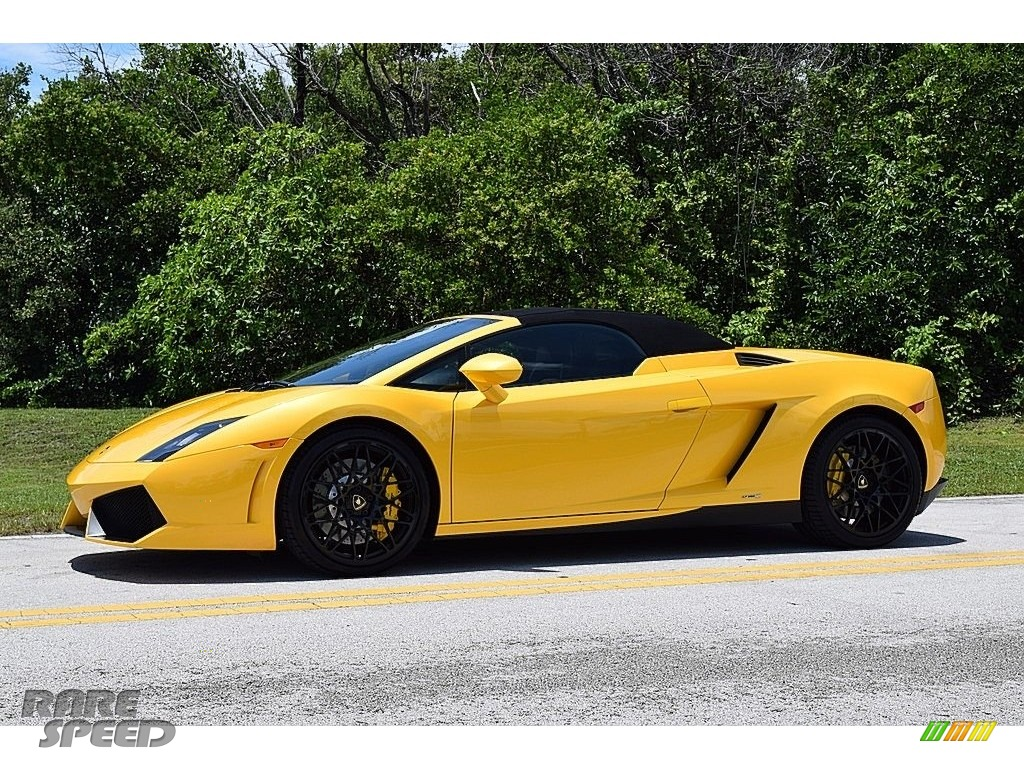2013 Gallardo LP 550-2 Spyder - Giallo Midas Pearl Effect / Nero Perseus photo #1