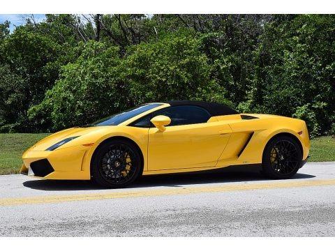 Giallo Midas Pearl Effect 2013 Lamborghini Gallardo LP 550-2 Spyder