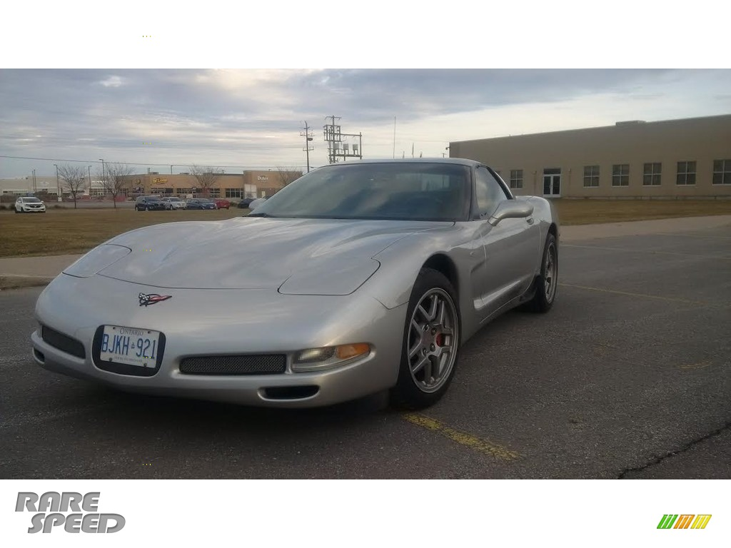 2004 Corvette Z06 - Machine Silver Metallic / Black photo #1