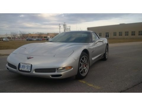 Machine Silver Metallic 2004 Chevrolet Corvette Z06