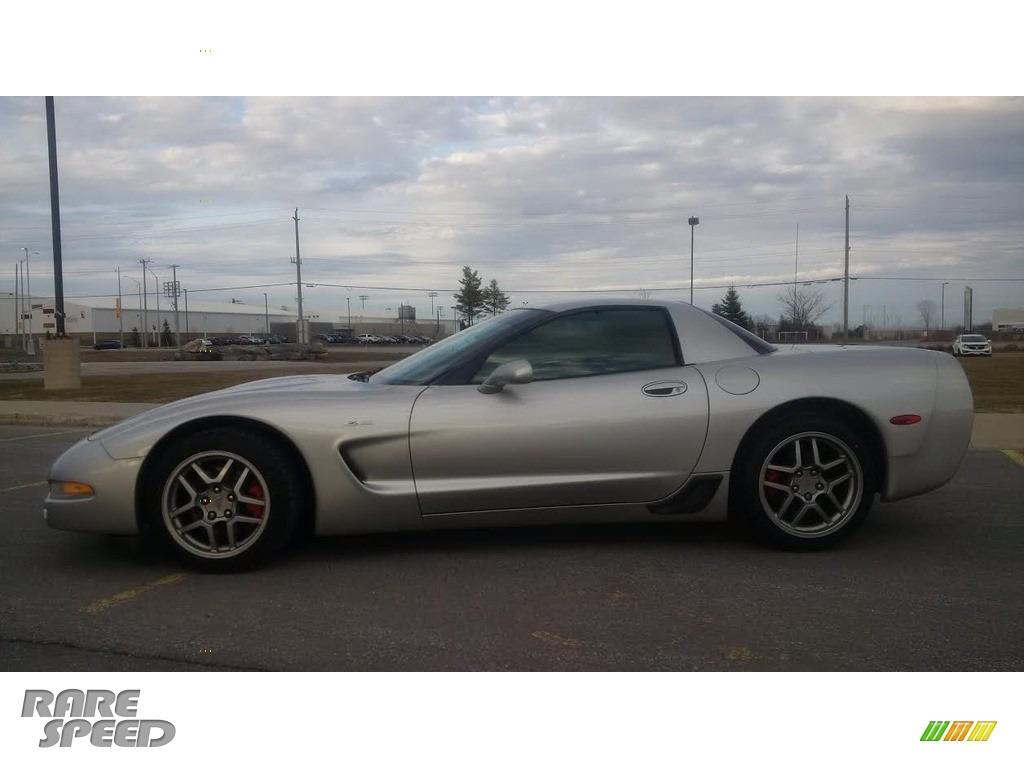 2004 Corvette Z06 - Machine Silver Metallic / Black photo #4