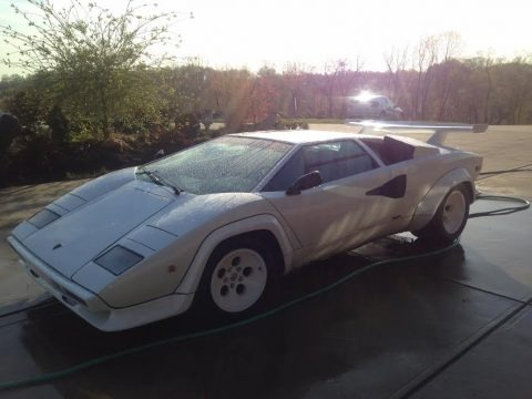 White 1983 Lamborghini Countach LP5000 S