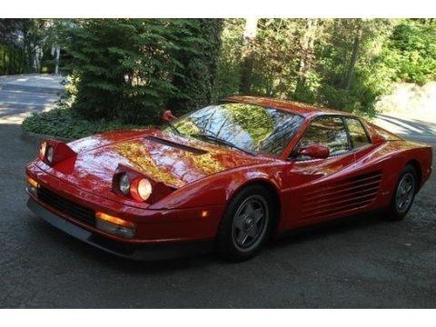 Red 1987 Ferrari Testarossa