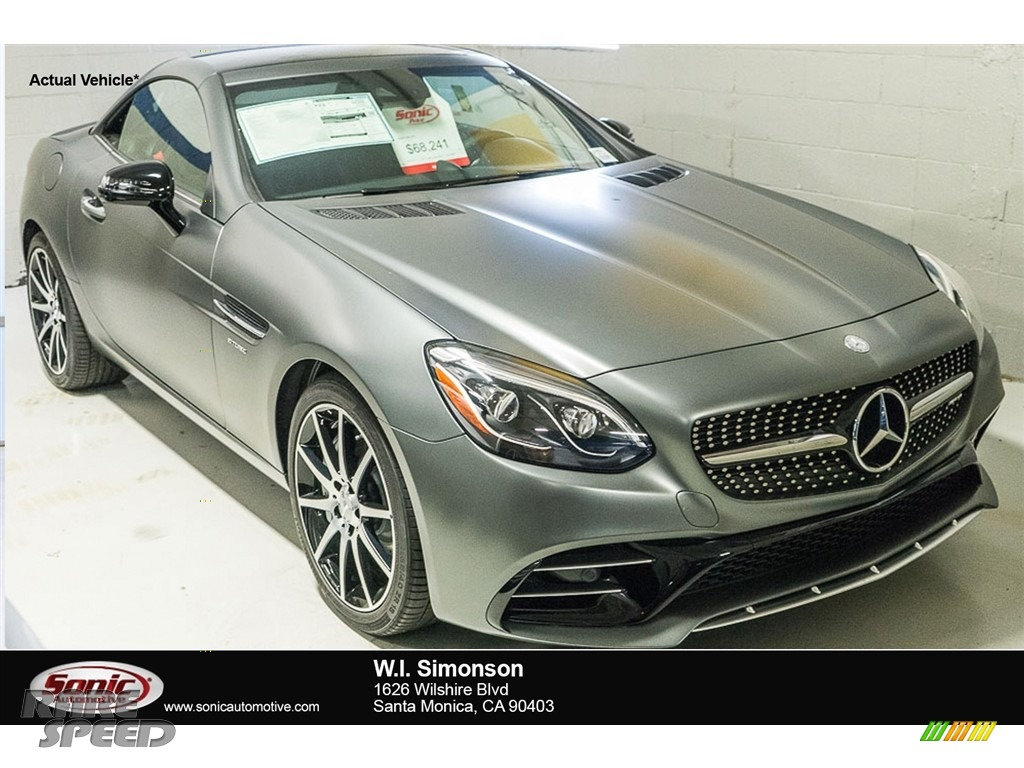 2017 mercedes benz slc 43 amg roadster in designo magno for Simonson mercedes benz