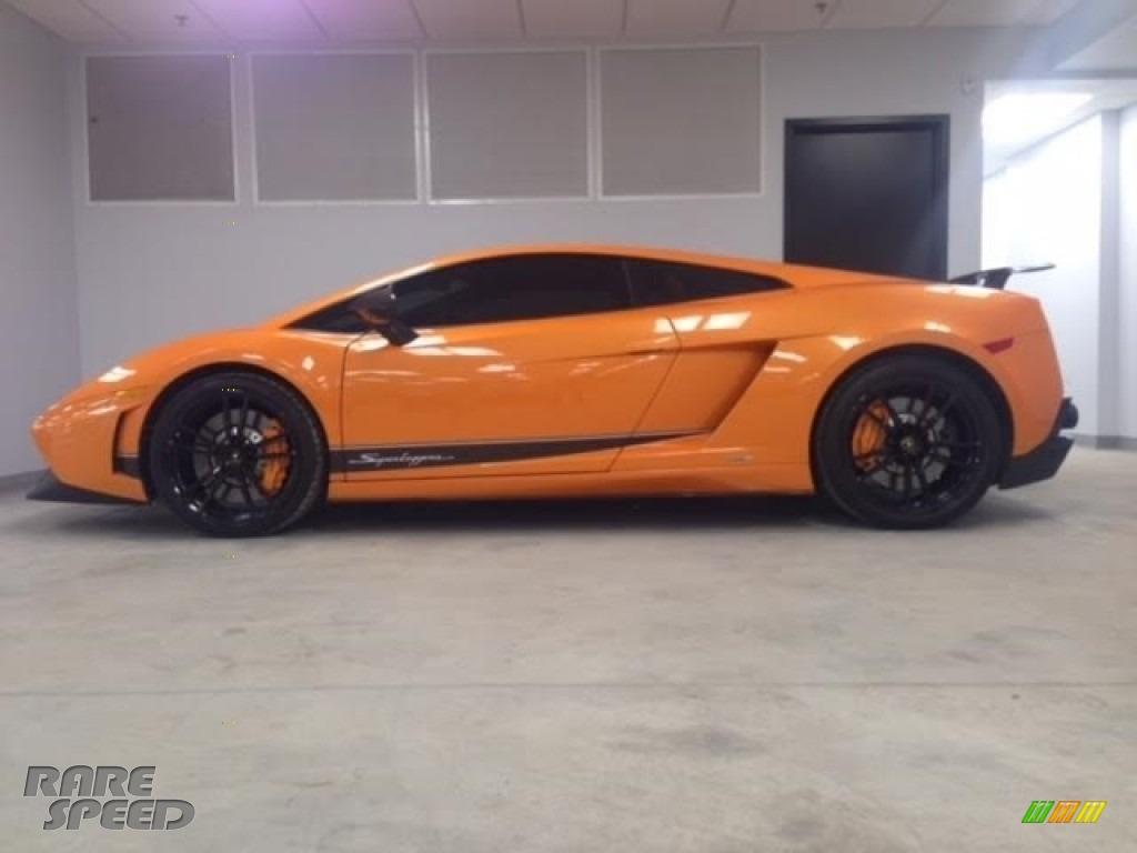 2010 Gallardo LP570 Superleggera - Arancio Borealis (Orange) / Black photo #2