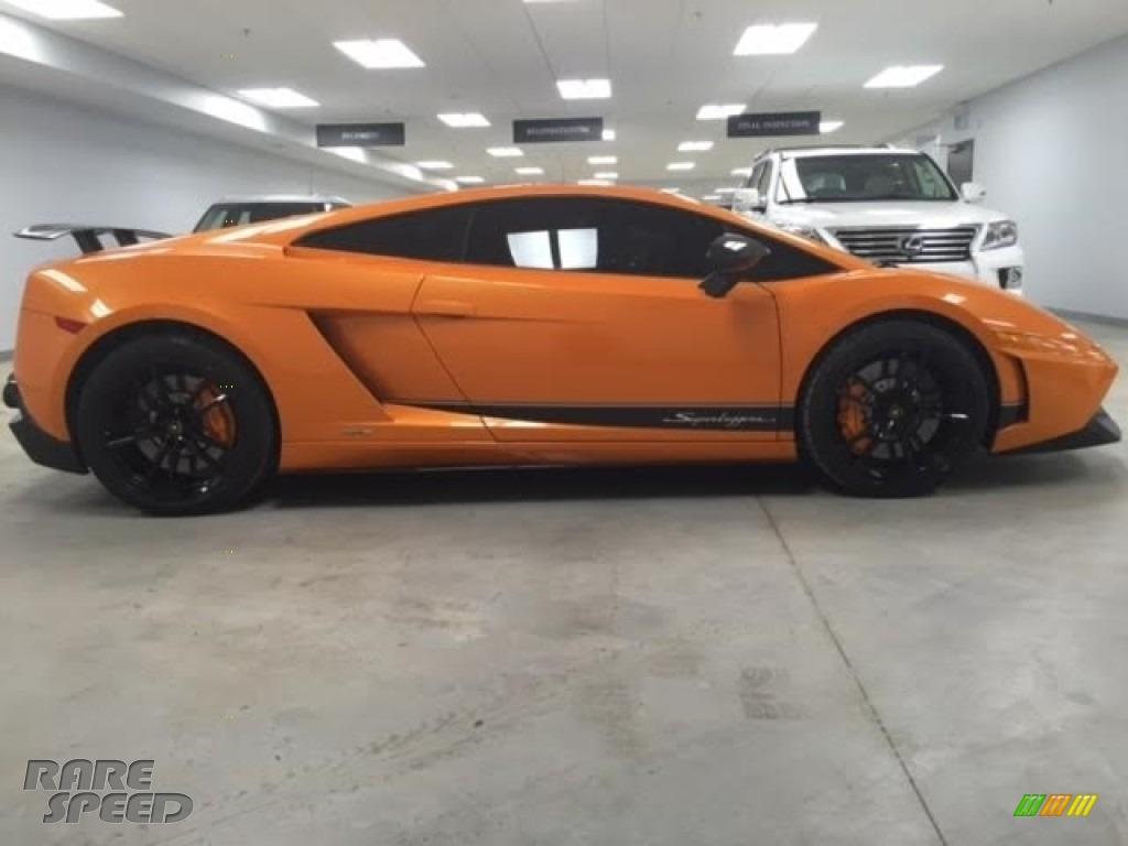 2010 Gallardo LP570 Superleggera - Arancio Borealis (Orange) / Black photo #6