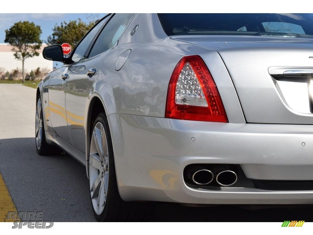 2009 Quattroporte  - Grigio Touring (Silver) / Nero photo #7
