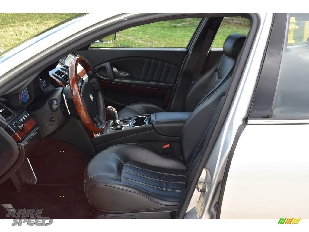 2009 Quattroporte  - Grigio Touring (Silver) / Nero photo #42