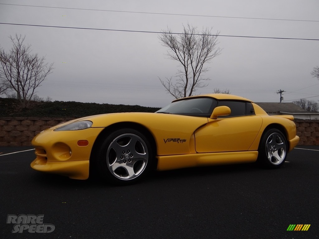 2001 Viper RT-10 - Viper Race Yellow / Black photo #2