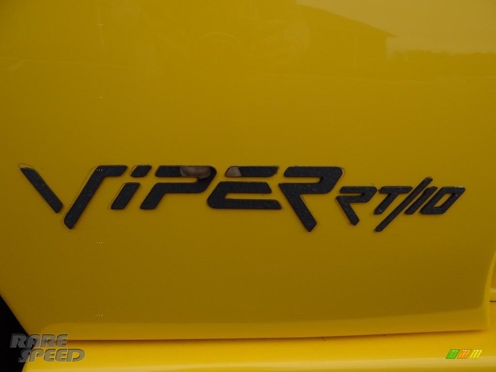 2001 Viper RT-10 - Viper Race Yellow / Black photo #14
