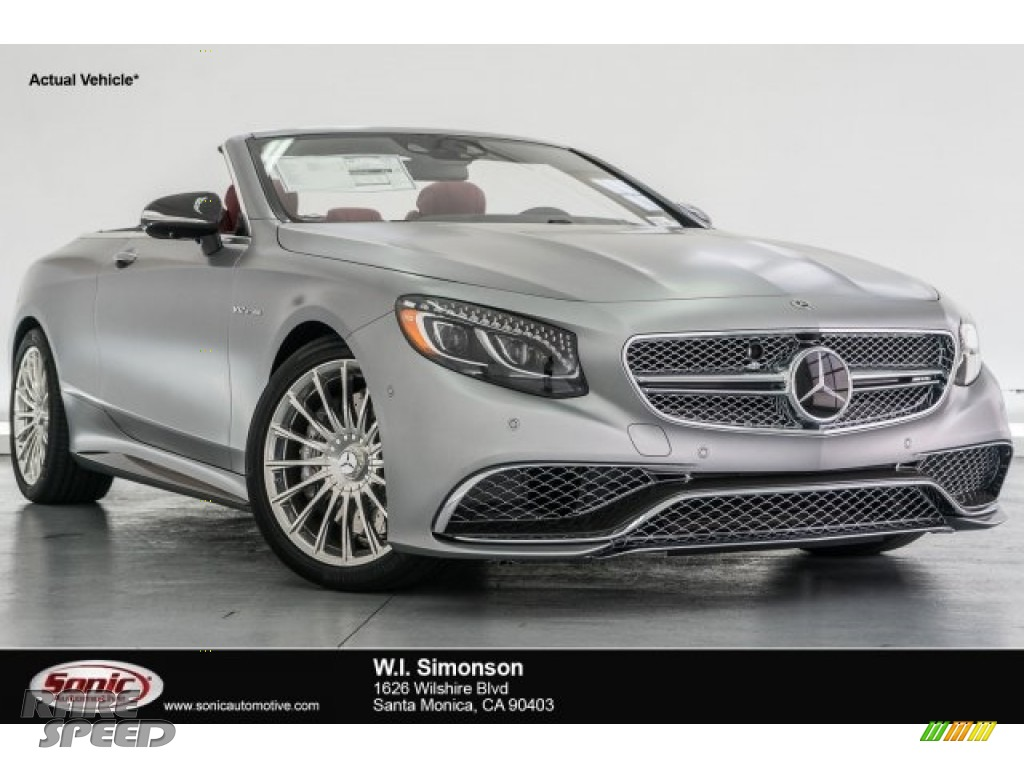 2017 S 65 AMG Cabriolet - designo Alanite Grey Magno (Matte) / designo Bengal Red/Black photo #1