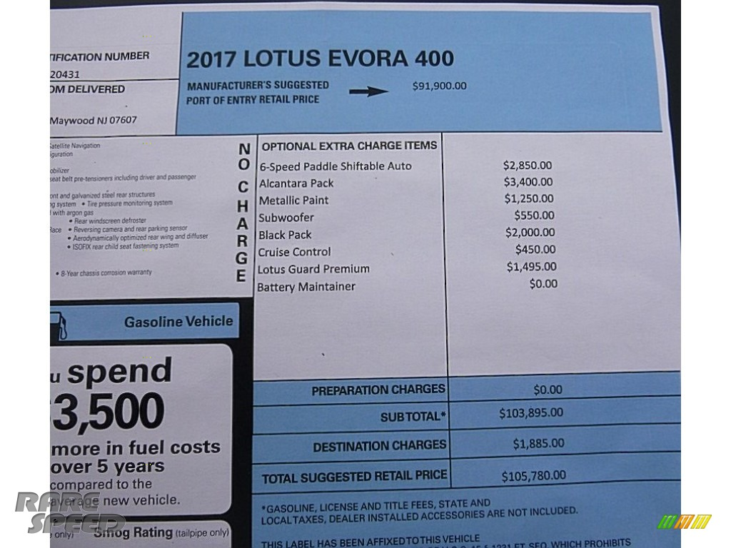 2017 Evora 400 - Metallic Silver / Black photo #30