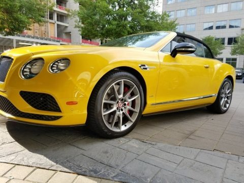 Monaco Yellow 2016 Bentley Continental GTC V8