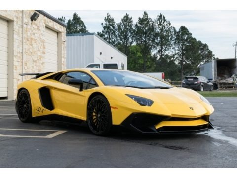 New Giallo Orion 2017 Lamborghini Aventador LP750-4 Superveloce Coupe