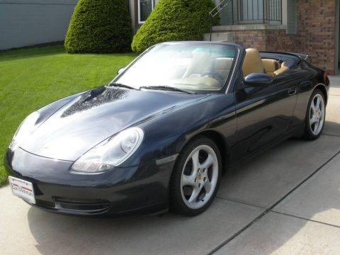 Midnight Blue Metallic 2001 Porsche 911 Carrera Cabriolet