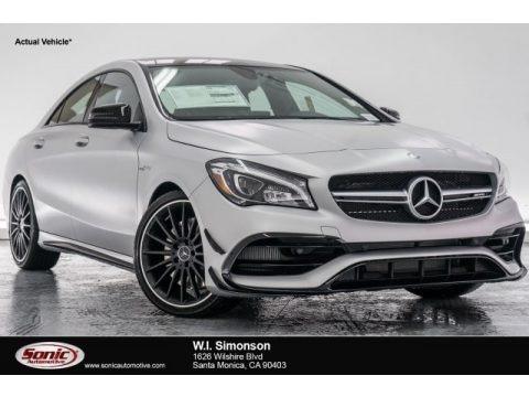 designo Polar Silver Magno (Matte) 2018 Mercedes-Benz CLA AMG 45 Coupe