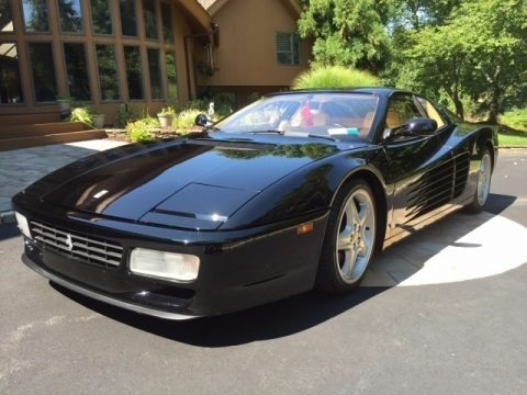 Black 1992 Ferrari 512 TR