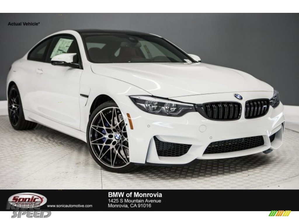 2018 M4 Coupe - Alpine White / Sakhir Orange/Black photo #1
