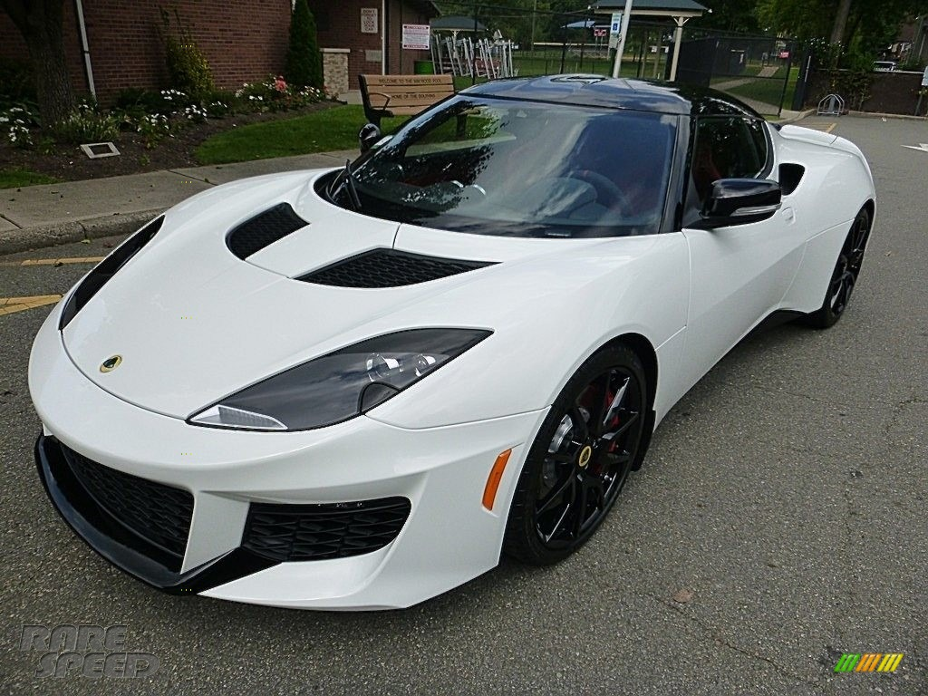 Metallic White / Red Lotus Evora 400