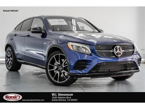 Brilliant Blue Metallic 2018 Mercedes-Benz GLC AMG 43 4Matic Coupe