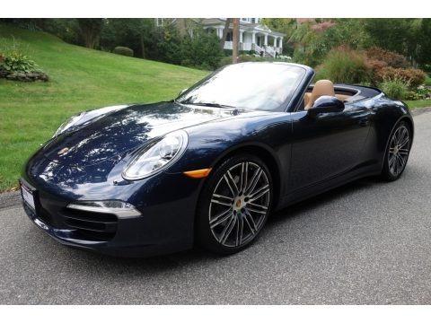 Dark Blue Metallic 2015 Porsche 911 Carrera 4S Cabriolet