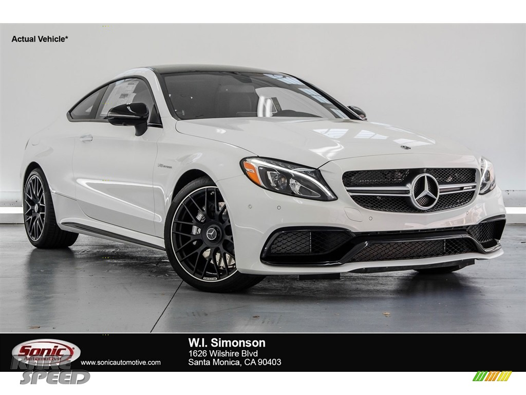 2018 C 63 AMG Coupe - Polar White / Black photo #1