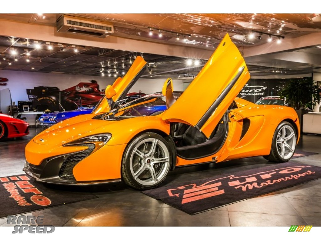 2015 650S Spyder - McLaren Orange / Carbon Black photo #1