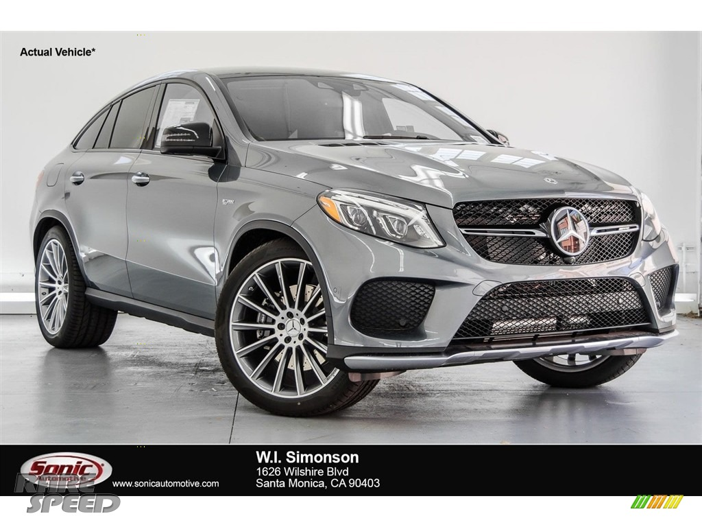 2018 GLE 43 AMG 4Matic Coupe - Selenite Grey Metallic / Black photo #1