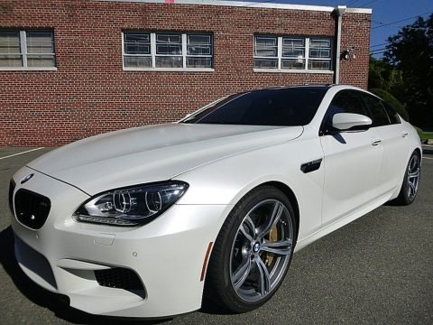 Frozen White 2015 BMW M6 Gran Coupe