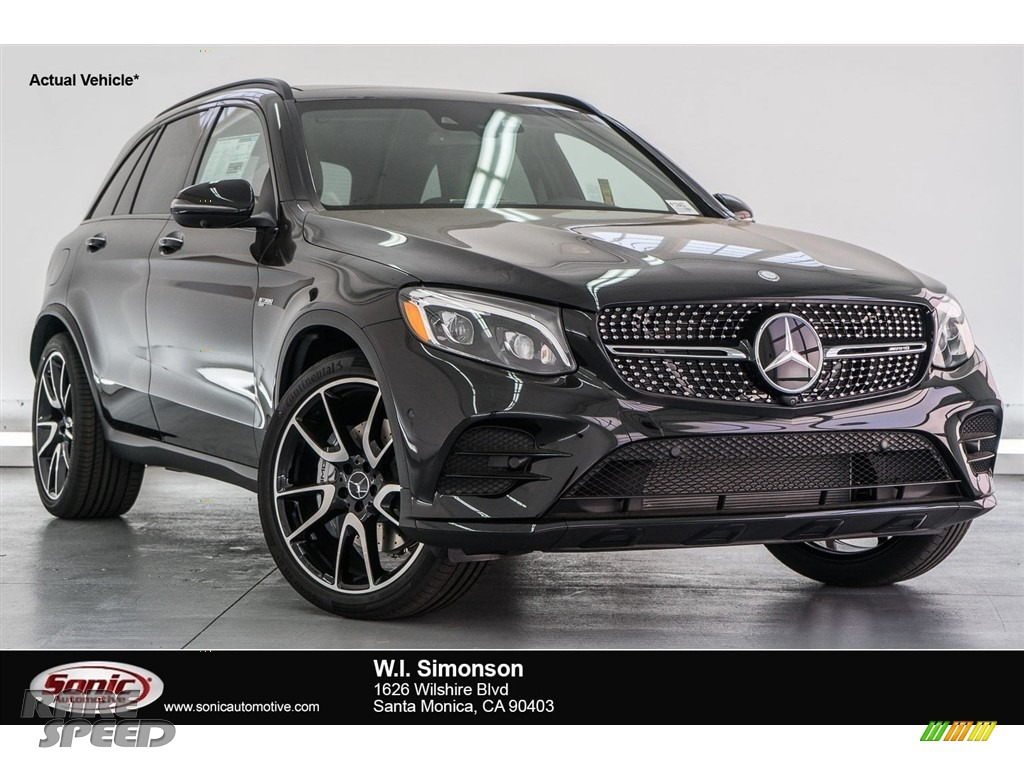 2018 GLC AMG 43 4Matic - Obsidian Black Metallic / designo Black photo #1